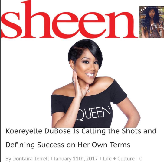 ICYMI: Sheen Magazine Feature